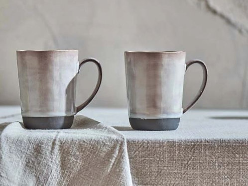 Nkuku Edo Mug Large -Slate