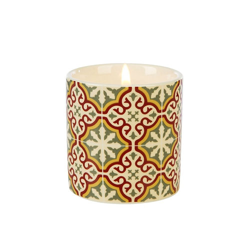 Fired Earth Ceramic Candle Small -Emperors Red Tea