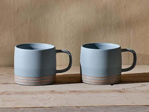 Nkuku Enesta Line Mug Dusty Blue