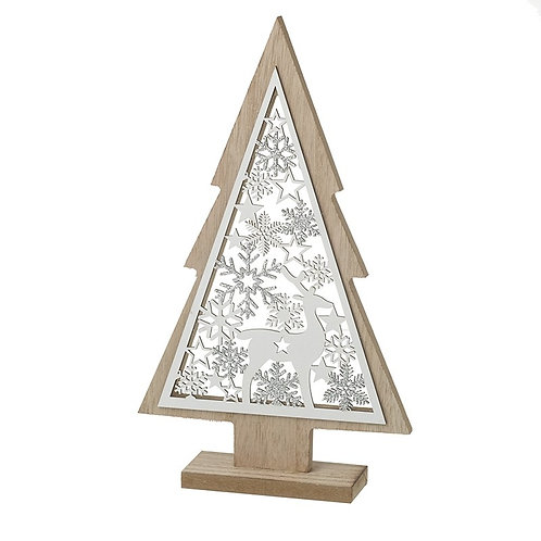 Wooden Cut-Out Tree