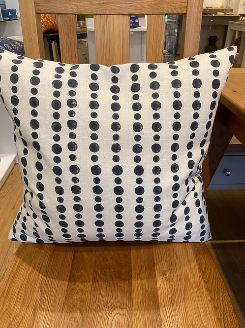 Dotty Print Cushion - Dark Blue