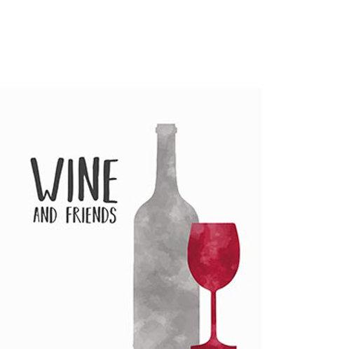 Paper Napkin Wine Friends Small