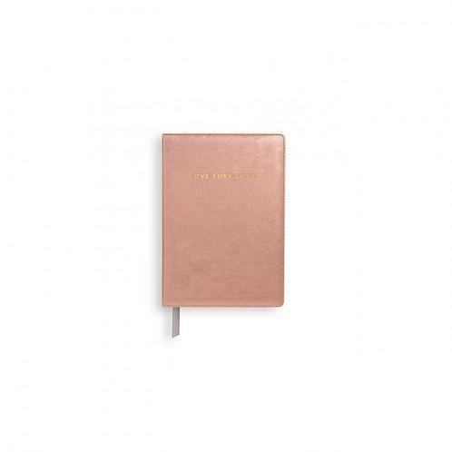 Katie Loxton Mini Notebook -Metallic Pink
