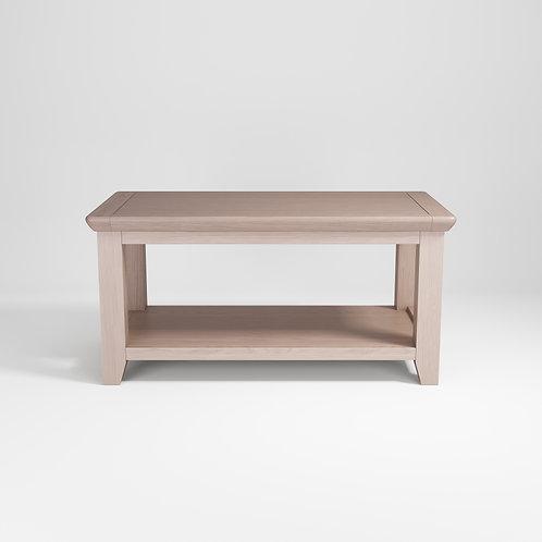 Smoke Oak Coffe Table w/shelf