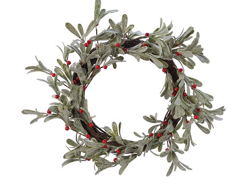 Green Wreath with Red Berries