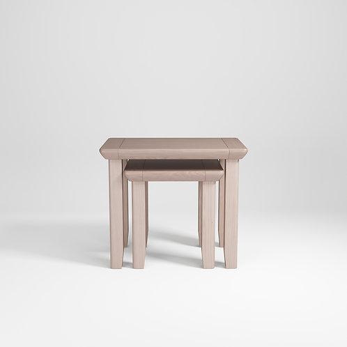 Smoke Oak Nest of Tables Set/2