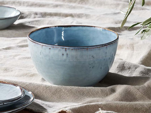 Nkuku Malia Serving Bowl Dusty Blue