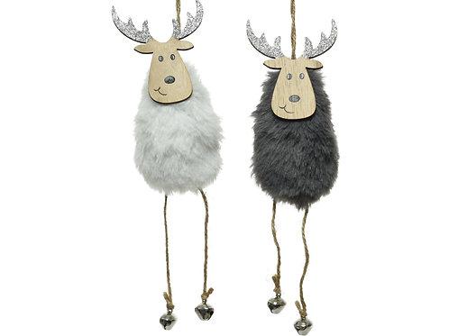 Hanging Deer Decoration - set 2 asstd