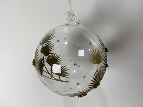 Winters Tale clear ball with gold grass heads