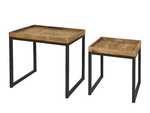 Nest of 2 Acacia tables