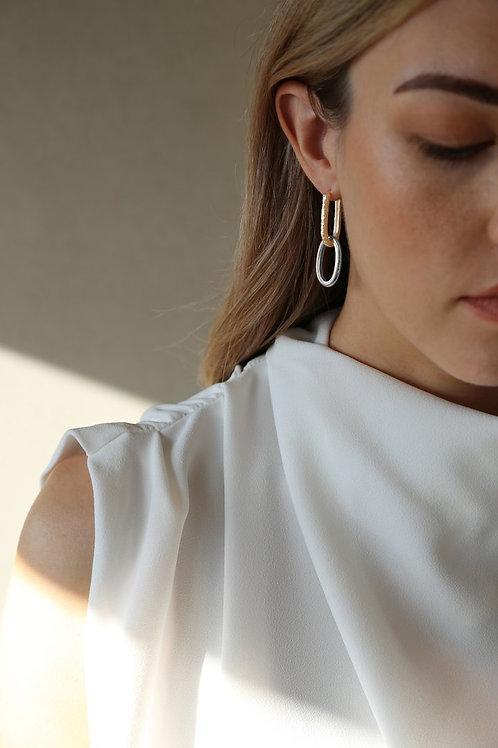 Link Earring Silver/Gold