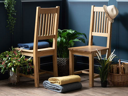 Henley Oak Vertical Slat Dining Chair