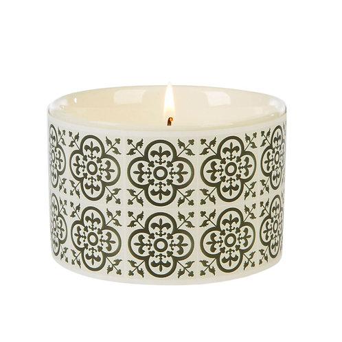 Fired Earth Ceramic Candle Med  - Black Tea & Jasmine