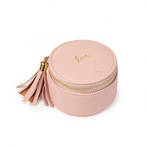 Katie Loxton Tassel Small Circle Jewellery Box - Pink