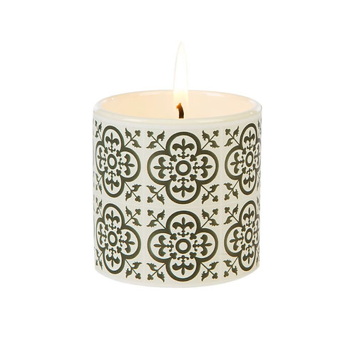 Fired Earth Ceramic Candle Small - Black Tea & Jasmine