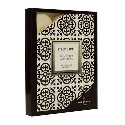 Fired Earth Tealights Pack/12 -Black Tea & Jasmine