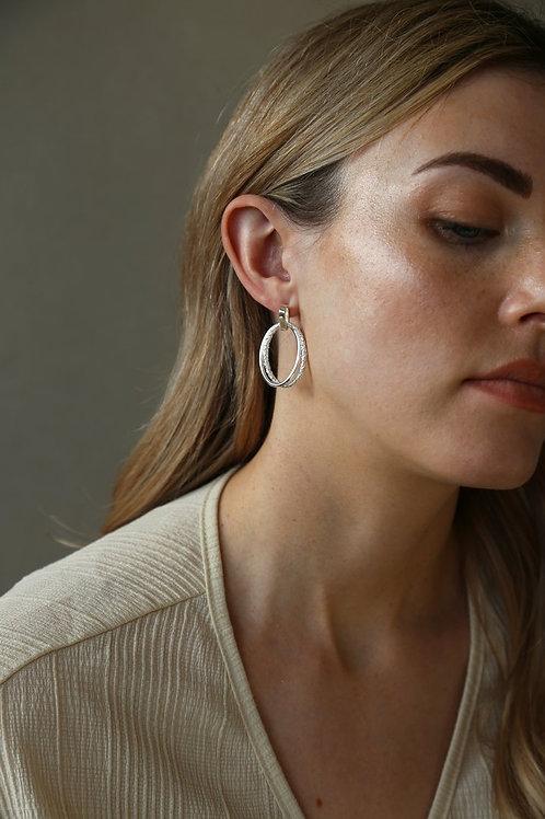 Echo Earring Silver