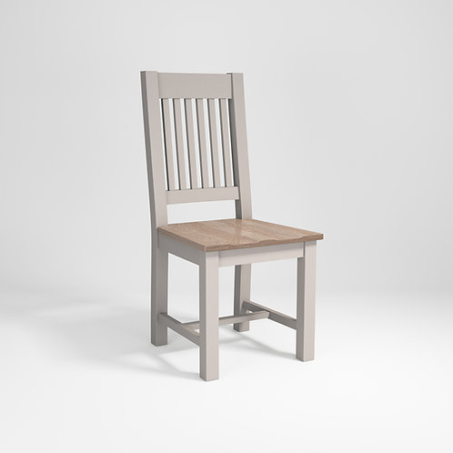 Pavilion Grey Dining Chair Slatted Back