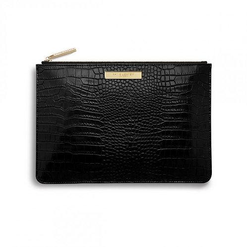 Katie Loxton Celine Faux Croc Perfect Pouch - Black
