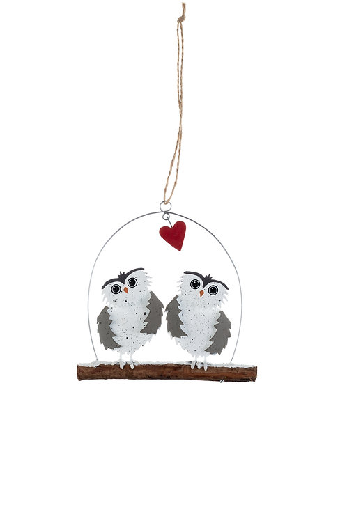 Shoeless Joe Two Little Owls Hanger
