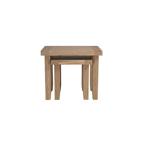 Plain Oak Nest of Tables Set/2
