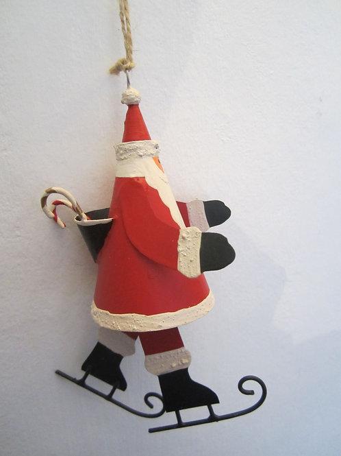 Shoeless Joe Skating Santa Hanger