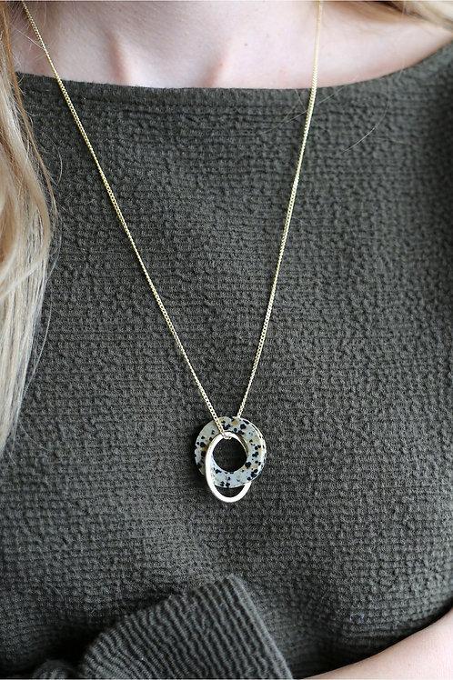 Jasper Necklace Gold