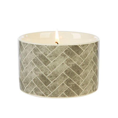Fired Earth Ceramic Candle Med  -Earl Grey & Vetivert