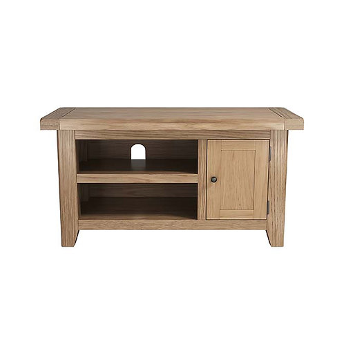 Plain Oak Small TV Unit
