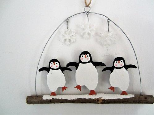 Shoeless Joe Dancing Penguin Dudes Hanger