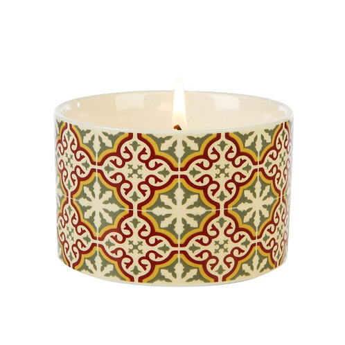 Fired Earth Ceramic Candle Med - Emperors Red Tea