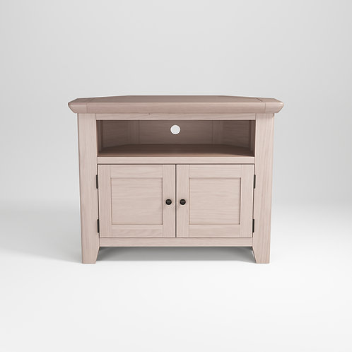 Smoke Oak Corner TV Unit