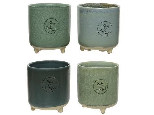 Small stoneware planter Set of 4