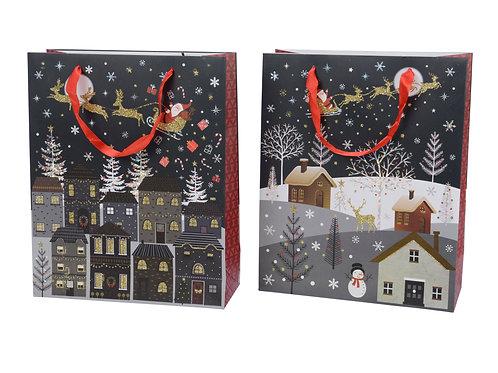 Christmas Giftbag set of 2 asstd