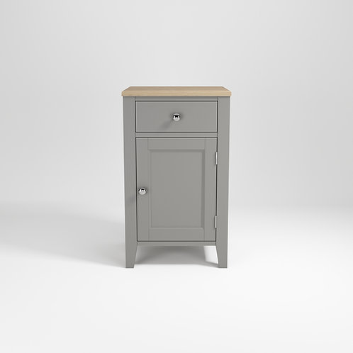 Harbour Grey 1door Bedside
