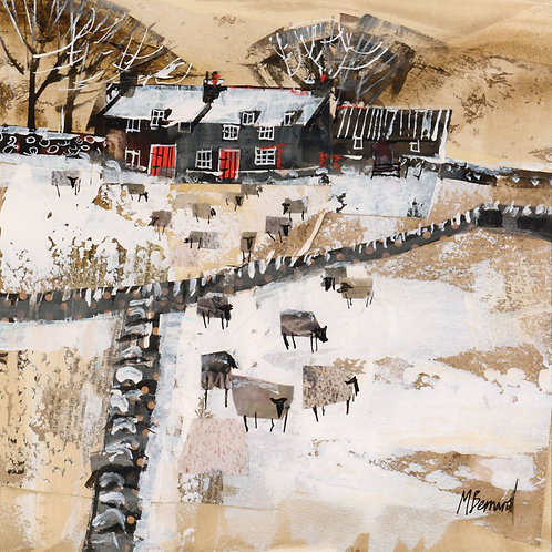 Dry Red Card -Dales Farm in the Snow
