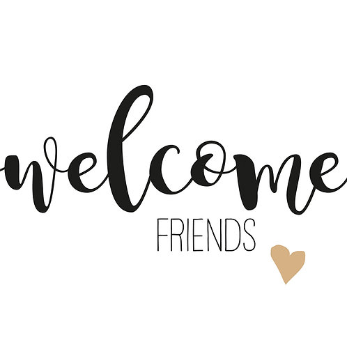 Paper Napkin Welcome Friends