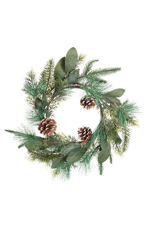 Shoeless Joe Pine Wreath/Candlering