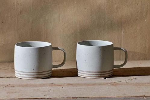 Nkuku Enesta Line Mug Cream