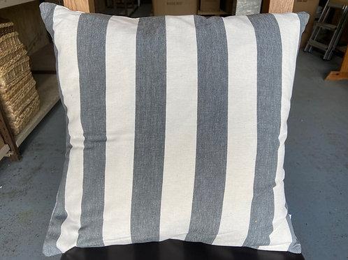 Cushion -Wide Stripe - Slate