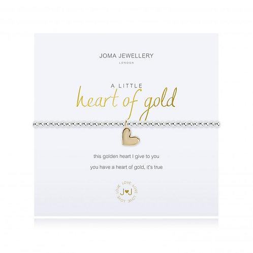 A Little Heart of Gold Bracelet