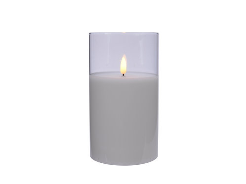 LED Wax Candle in Glass