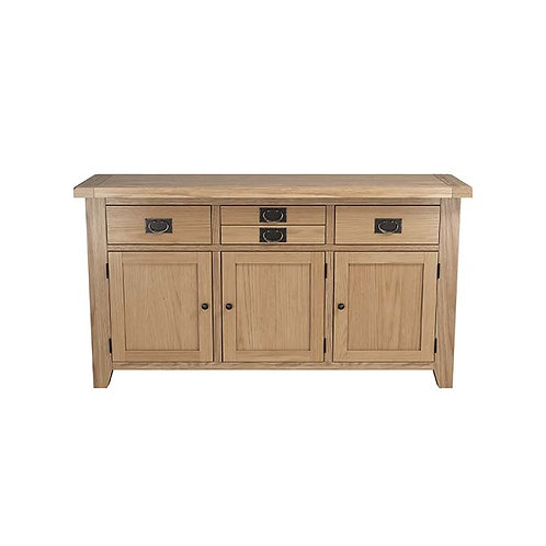 Plain Oak Large 3 Door Sideboard