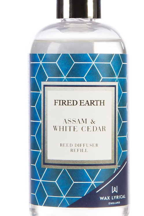 Fired Earth Refill Bottle 200ml -Assam & White Cedar
