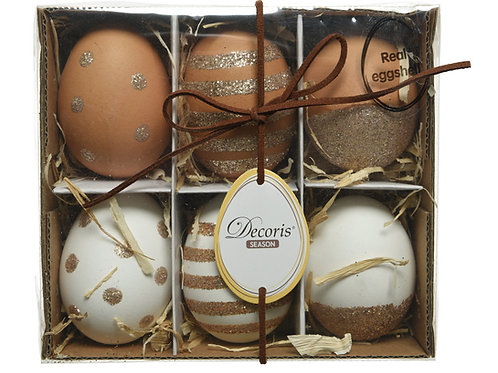 Eggs with Glitter Decor Pack/6