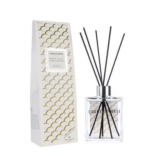 Fired Earth Reed Diffuser  - White Tea & Pomegranate