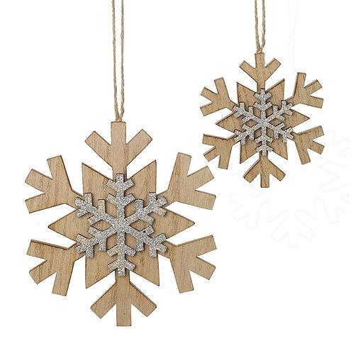 Hanging Wooden Snowflake set/2