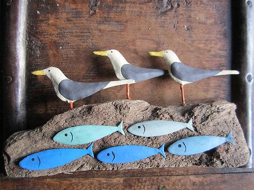 Shoeless Joe Wading Gulls