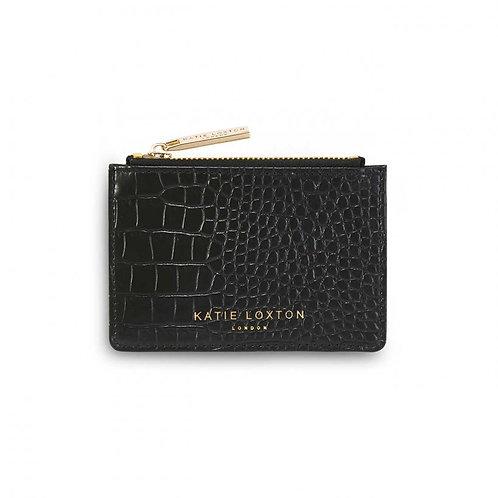 Katie Loxton Celine Faux Croc Cardholder -Black