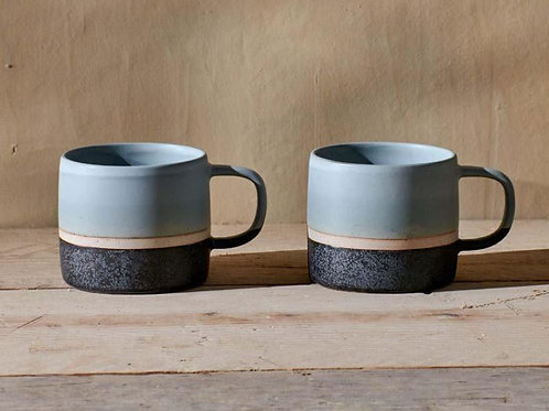 Nkuku Enesta Dipped Mug Dusty Blue